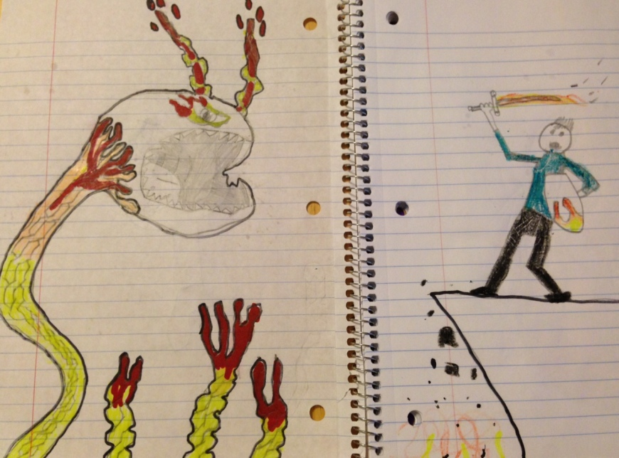 """The Final Battle"" (The Art  of Being a Big Brother by Cameron McCray , age 10)"